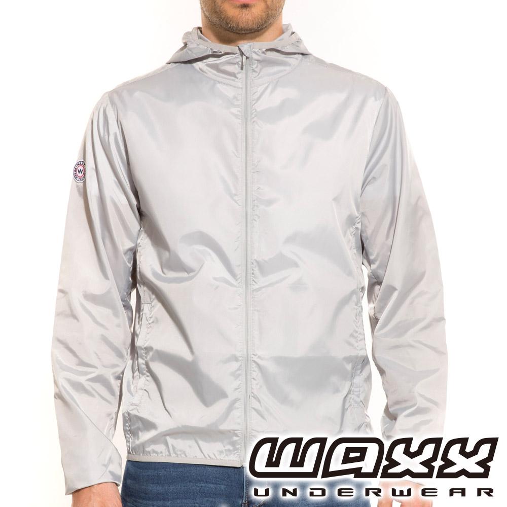 WAXX 經典系列-可攜式連帽風衣外套(灰色)