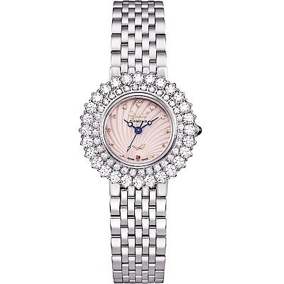 Ogival 愛其華 絢彩珠寶石英腕錶-花漾粉 380-014DLW
