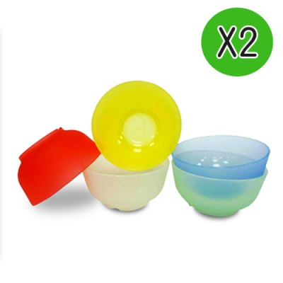 Mrs.home MIT環保無毒SGS認證耐熱耐酸多漾矽膠小碗2入