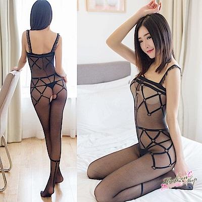 情趣內衣褲 台灣製連身絲襪式貓裝情趣內衣褲 流行E線