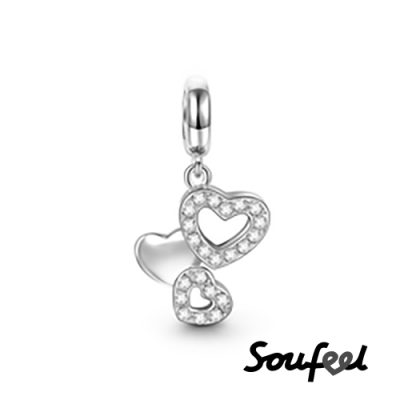 SOUFEEL索菲爾 925純銀珠飾 浪漫愛情 吊飾