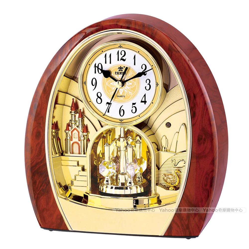 POWER霸王鐘錶-高品質座鐘-天鵝湖城堡-PW-4211-JRMKS1-24.9CM