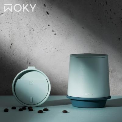 [獨家3/1上市] WOKY沃廚 360° 輕芯鈦瓷真空雙蓋保溫杯350ml(帽子杯)