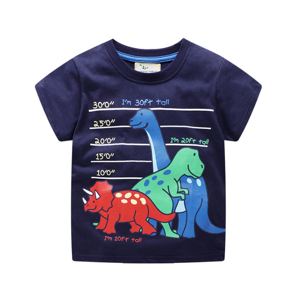 男童 中小童 歐美風格舒柔棉短袖T恤-恐龍家族