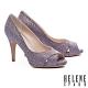 高跟鞋 HELENE SPARK 耀眼金蔥交叉魚口美型高跟鞋-紫 product thumbnail 1