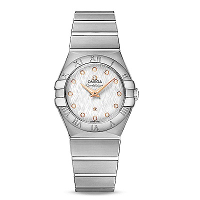 OMEGA 歐米茄星座系列石英27毫米腕錶 鑽面