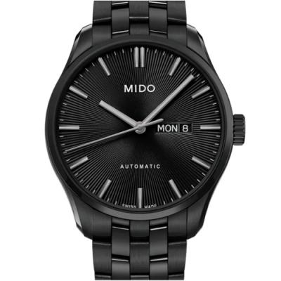 Mido 美度 BELLUNA 雋永系列 黑放射紋腕錶-42mm