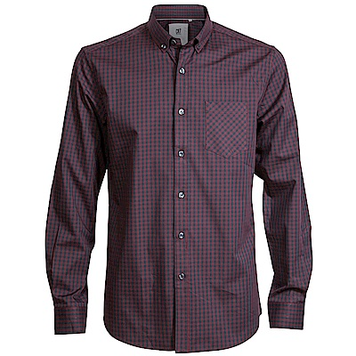 CR7-Slim Fit 紅黑格紋襯衫(8642-7200-317)