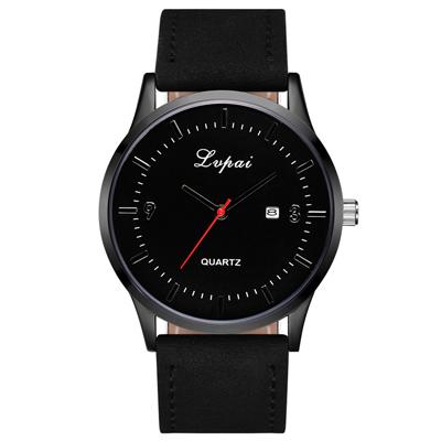 Watch-123 時尚簡約風采黑白調日曆手錶 (2色任選)