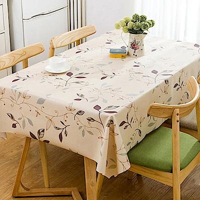 挪威森林 防水防油汙餐桌墊/野餐墊-法式田園手繪設計_晨曦花園137*180cm