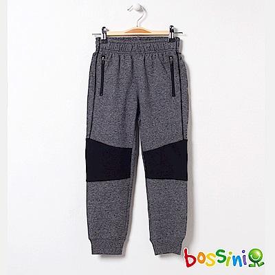 bossini男童-針織棉長褲01灰