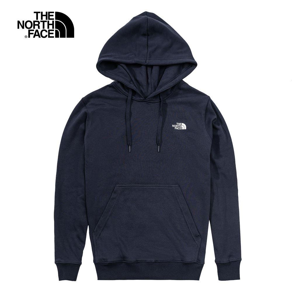 The North Face 男女 長袖連帽T恤 深藍-NF0A4NFGH2G