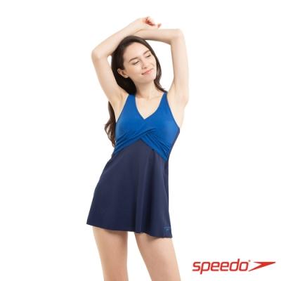 SPEEDO 女 運動連身裙裝 Wrap 藍