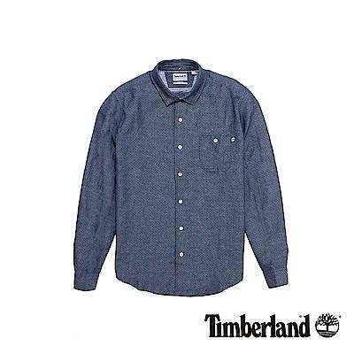 Timberland 男款蔚藍色Mill River長袖襯衫