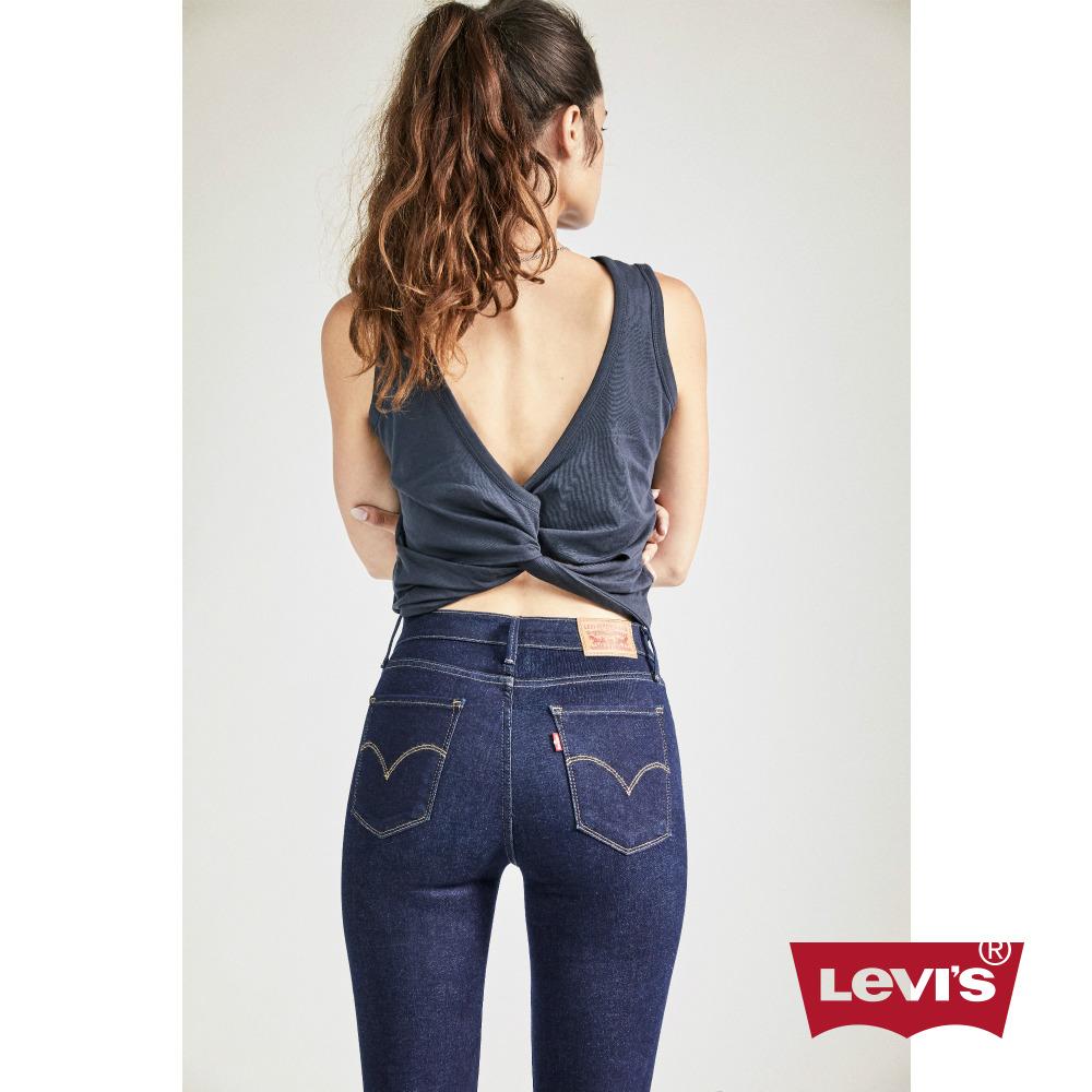 Levis 女款 711 中腰緊身窄管牛仔長褲 亞洲版型 原色 高彈力布料