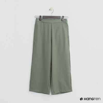 Hang Ten - 女裝 -素面後鬆緊寬褲 - 綠