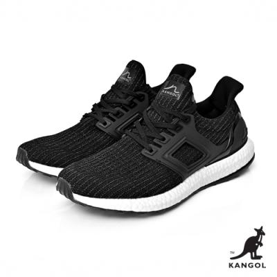 【KANGOL】編織彈性全能輕量運動鞋-女-黑