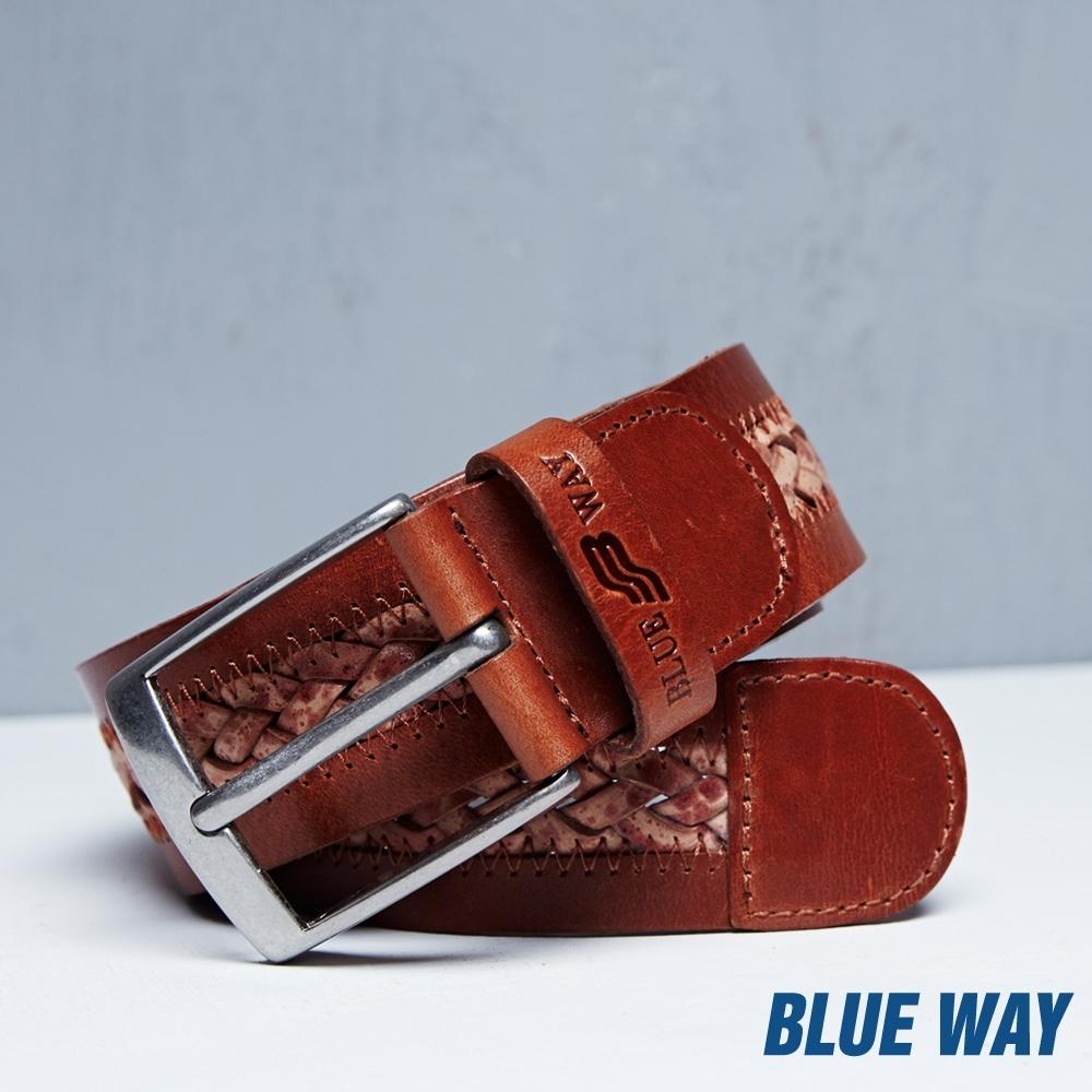 BLUE WAY – BW編織皮帶(34腰)