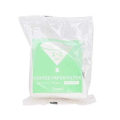 Tiamo V01 漂白圓錐咖啡濾紙 1-2人 100入日本製*2包(HG5596W)