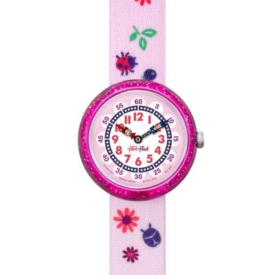 Flik Flak 兒童錶 AUTUMN COLORS 粉紅瓢蟲手錶-31.85mm
