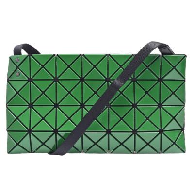 ISSEY MIYAKE 經典BAOBAO幾何方格斜背包(綠色)