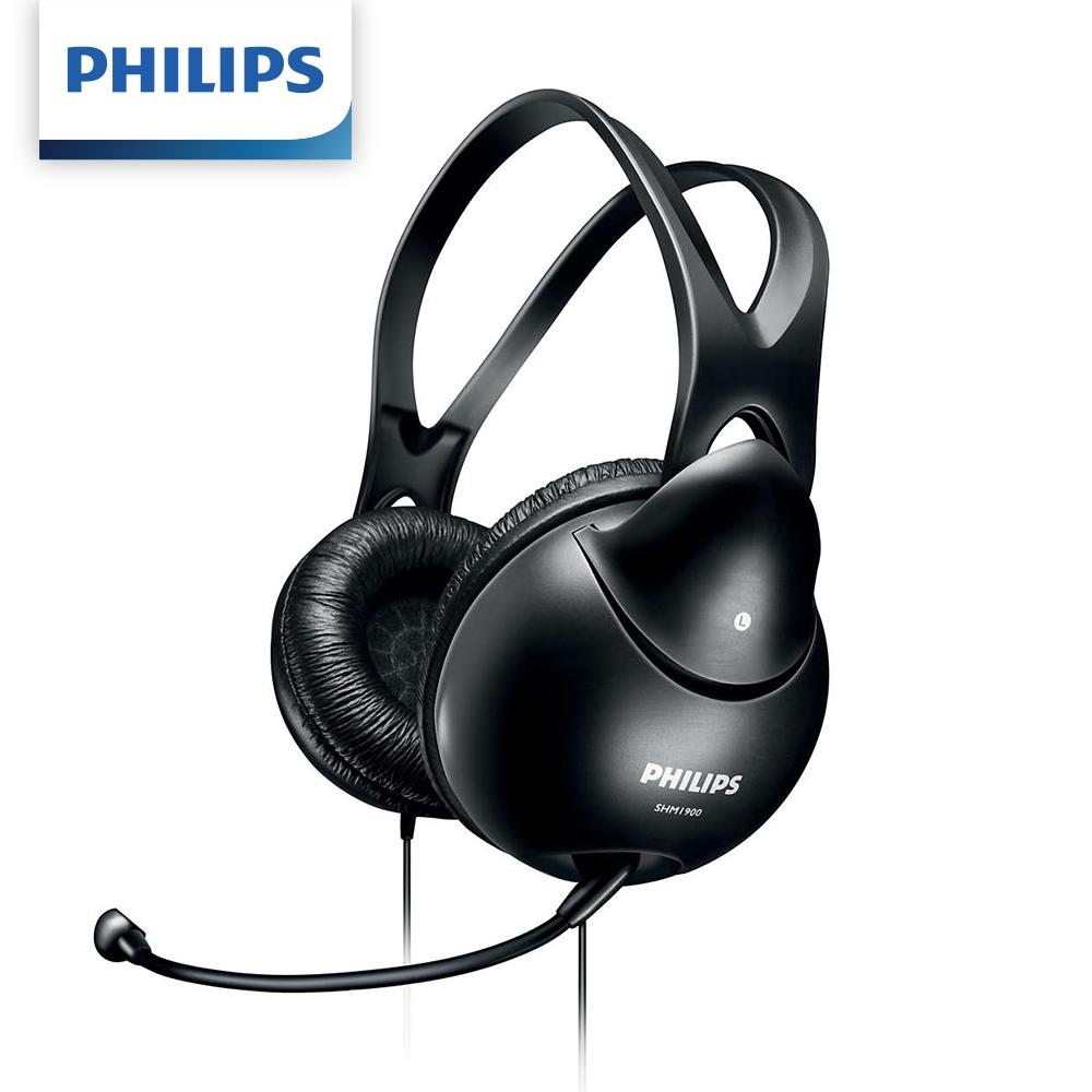 【Philips 飛利浦】頭戴式電腦耳機麥克風 SHM1900