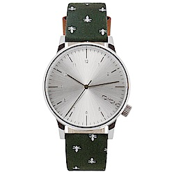 KOMONO Winston Print 腕錶-叢林大黃峰/41mm