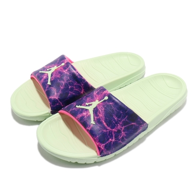 Nike 拖鞋 Jordan Break Slide 男鞋 喬丹 明星款 輕便 套腳 夏日 穿搭 藍紫 綠 DJ9803300