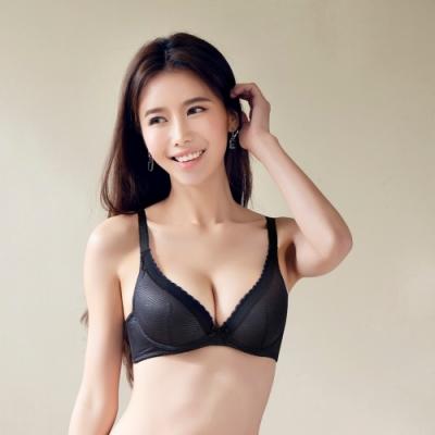 莎薇-深V粉水好素配 B-D罩杯內衣(黑)