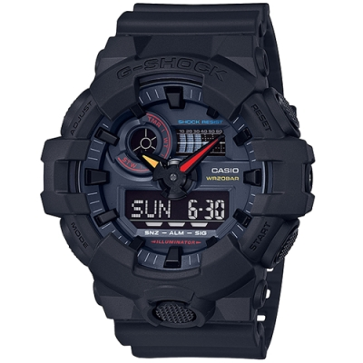 G-SHOCK GA-700系列運動雙顯腕錶 GA-700BMC-1A