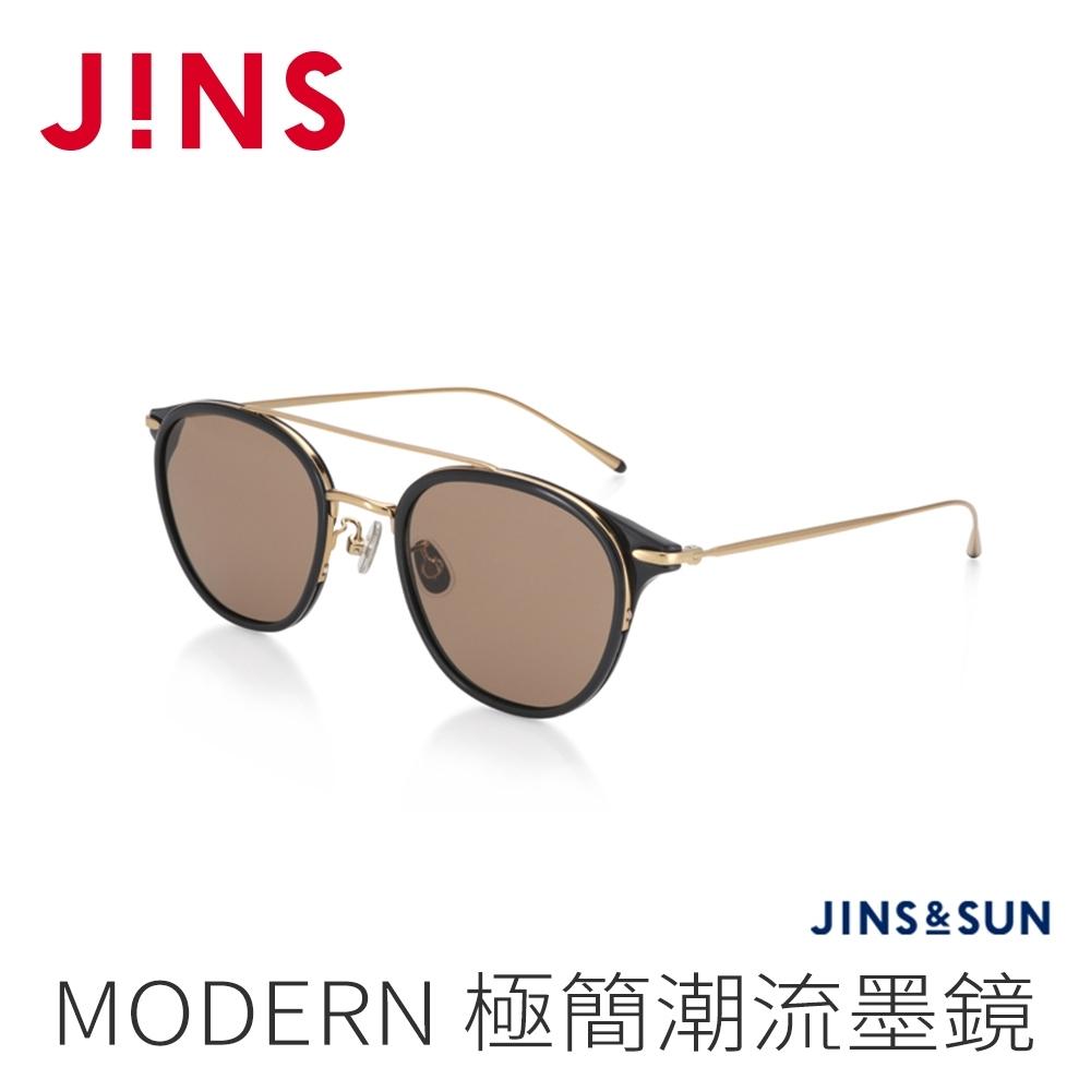 JINS&SUN MODERN 極簡潮流墨鏡(AURF21S123)經典黑