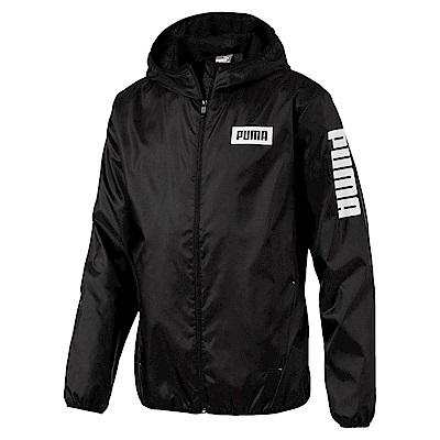 PUMA-男性基本系列PUMA風衣外套-黑色-亞規
