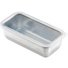 日本 吉川Yoshikawa透明蓋不鏽鋼保鮮盒 細長/1150ml
