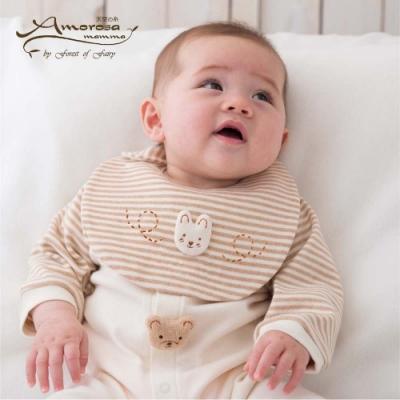 【Amorosa Mamma】有機棉嬰兒圍兜口水巾-小兔