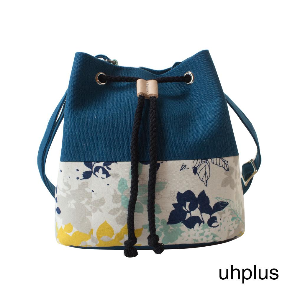uhplus 簡約輕巧水桶包(春日花卉)
