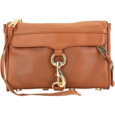 Rebecca Minkoff MINI MAC 展示品 包身染色 咖啡色金鍊手拿斜背包