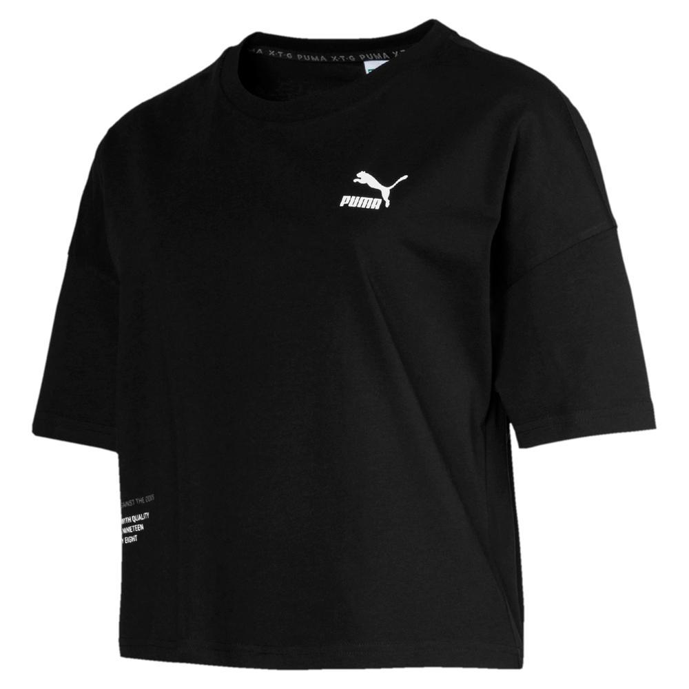 PUMA-女性流行系列XTG Trail短袖T恤-黑色-歐規