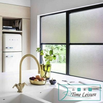 Time Leisure 免膠加厚防曬裝飾玻璃門窗靜電貼 霧面磨砂