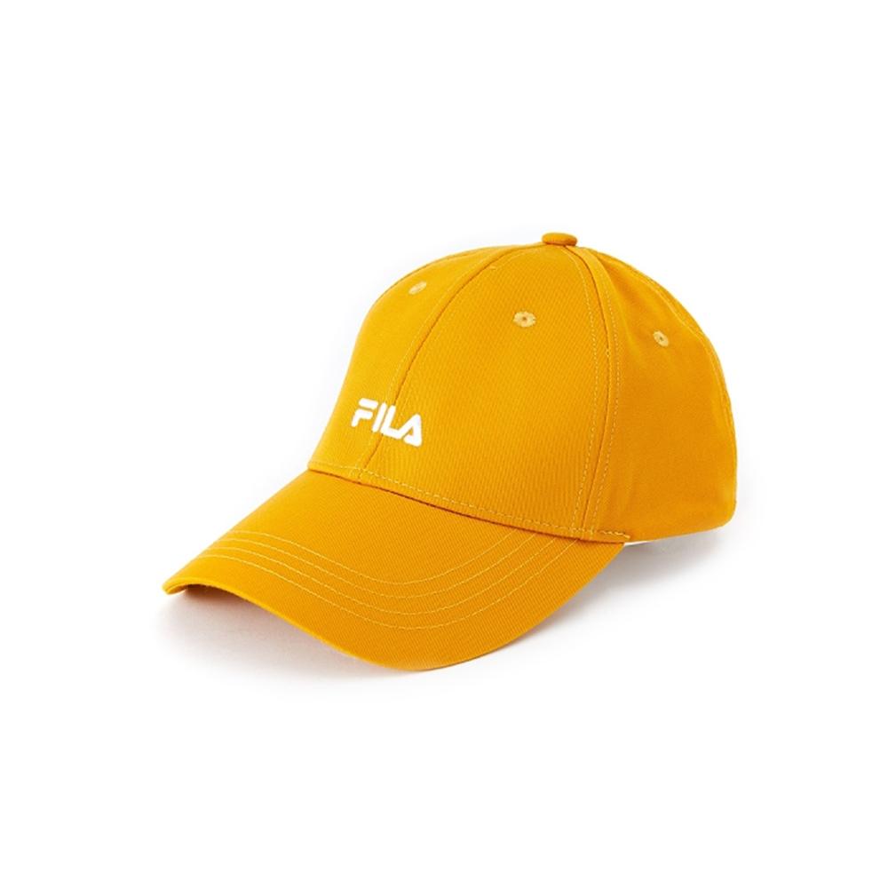 FILA 經典款LOGO棒球帽-芥末黃 HTV-5002-MD