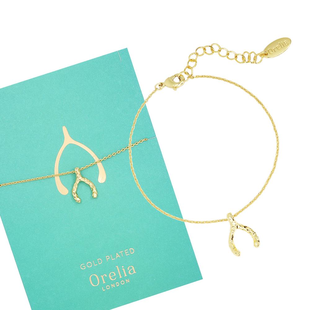 Orelia英國品牌 許願骨金色手鍊