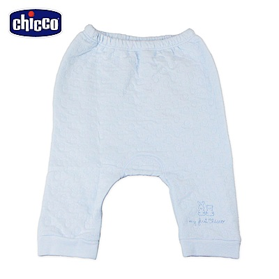 chicco-夾棉初生褲-藍(3-6個月)