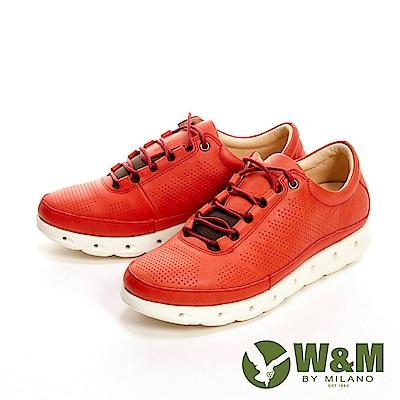 W&M 高彈力減壓輕量慢跑休閒 女鞋-紅(另有黑、藍)