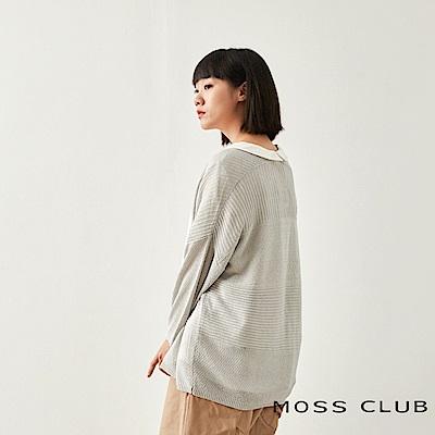 MOSS CLUB INLook 和風落肩針織短外套