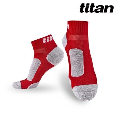 【titan】太肯 3雙功能慢跑訓練襪_紅竹炭(純棉、厚底)