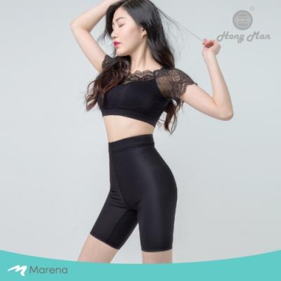 【Marena】日常塑身運動系列 輕塑高腰五分塑身褲 黑色