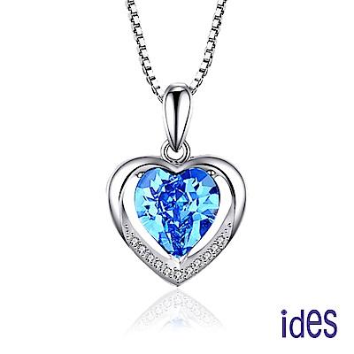 ides愛蒂思 歐美設計彩寶系列海藍寶拓帕石項鍊/情有獨鍾