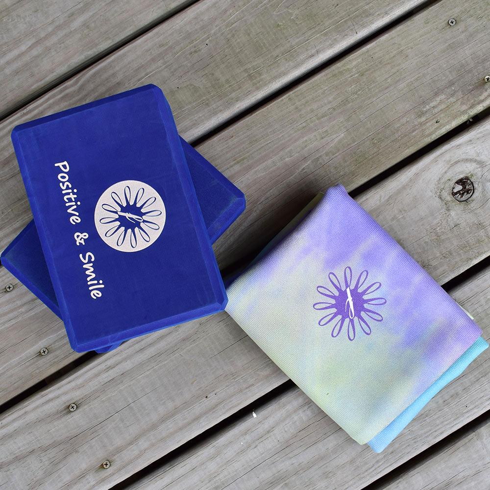 FunSport fit 超值組★迷幻森林旅行瑜珈鋪巾墊 +快樂靈藥瑜珈磚*2塊