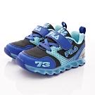 FILA頂級童鞋 賽車電燈鞋款 EI52S-303黑藍(中小童段)