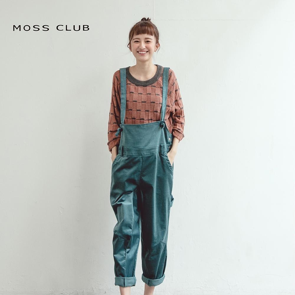 【MOSS CLUB】 日系休閒舒適吊帶-長褲(藍色)