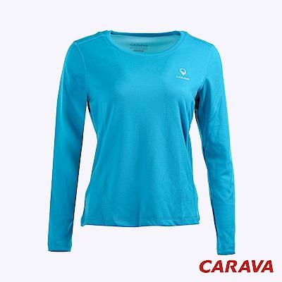 CARAVA 女排汗保暖長T 恤(冰藍)